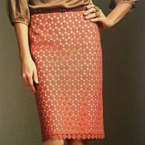 Talbots Crochet Lace Floral Pencil Skirt, size 20W